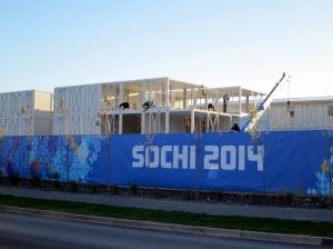 Sochi Olympics building site