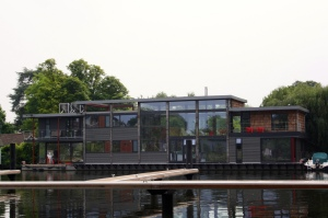 Floating house in Taggs Island