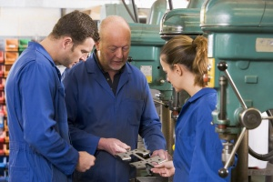 apprentices in workshop