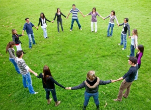 people forming a circle