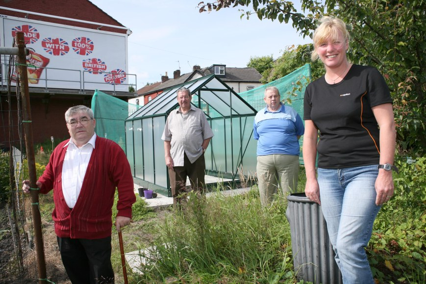 Allotment holders in the Wirral