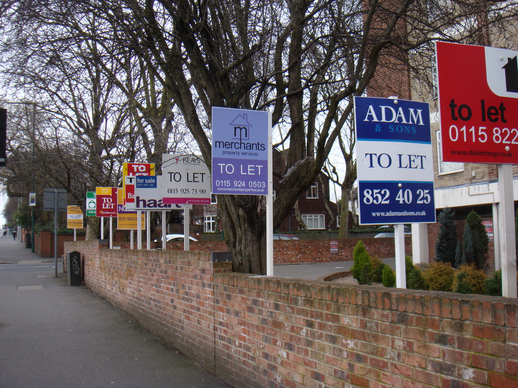 To Let housing signs
