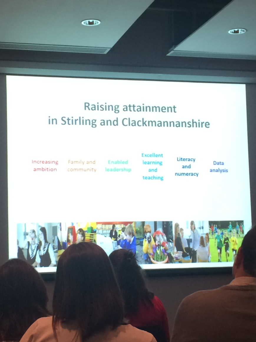 The Scottish Attaniment Challenge outlined in Stirling and Clackmannan. Rebecca Jackson, 2015