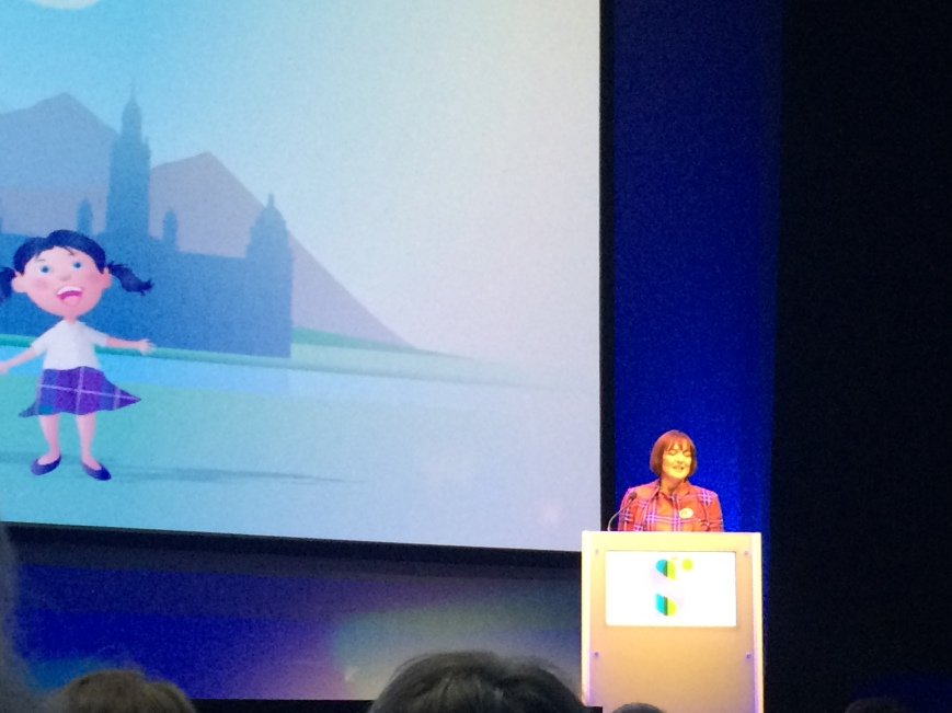 Angela Constance MSP addresses the conference. Rebecca Jackson, 2015