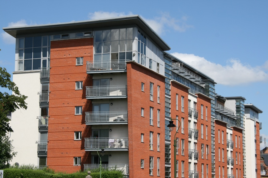 apartment building in Nottingham UK