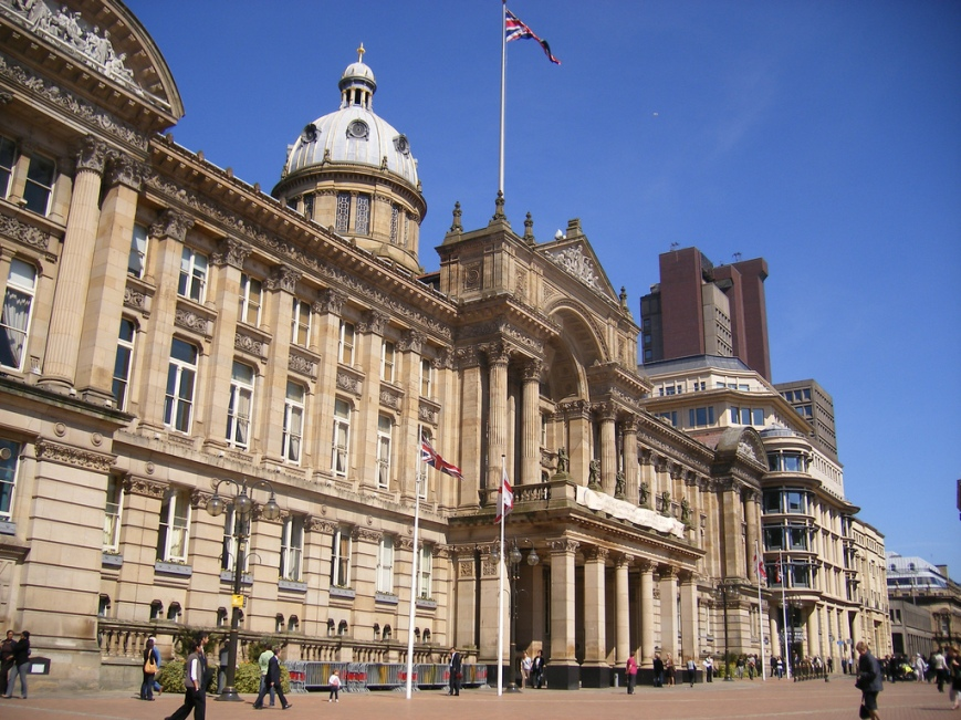 Birmingham City Council House is in Victoria Square, Birmingham