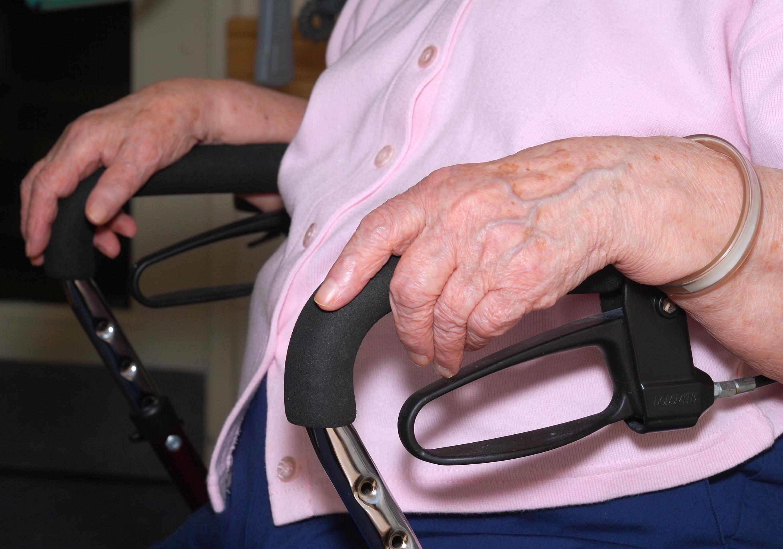 Senior resting in a wheelchair