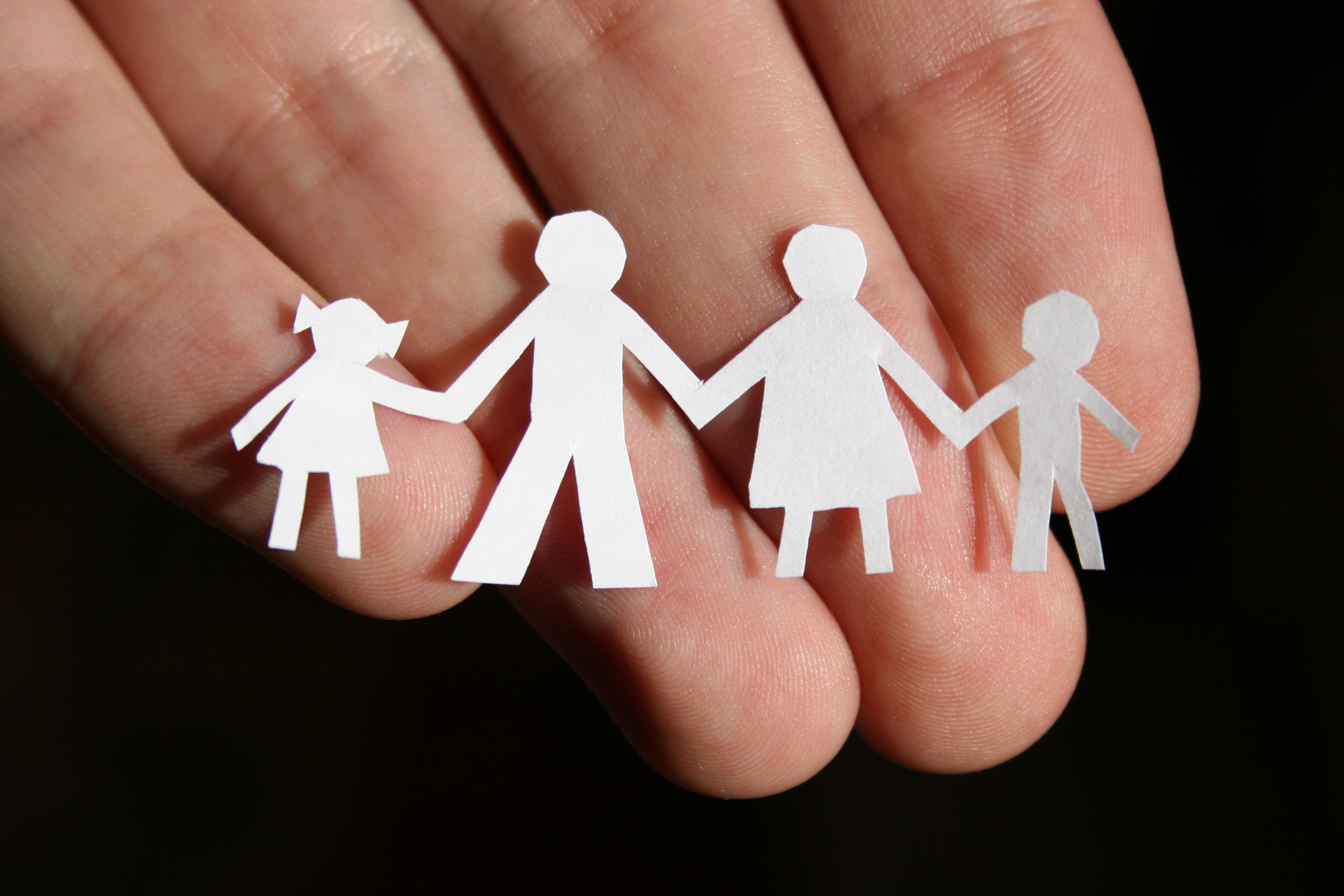 paper family on hand