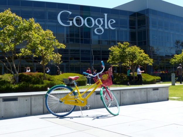 Google building with Google bicycle in foreground
