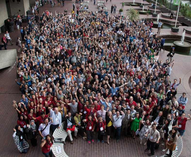 A group picture from Wikimania 2014